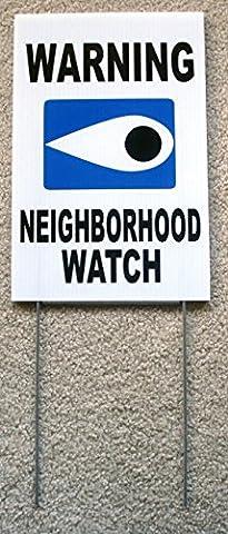 1 Pcs Super Popular Warning Neighborhood Watch Yard Sign Protection Anti-Burglar Plastic Declare Size 8