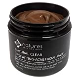 Facial Mask For Acne Scars - Natural Clear-Acne Treatment Mask-Works Better Than Benzoyl Peroxide And Salicylic Acid. Immediately Absorbs Excess Sebum Oil, Dirt, Toxins And Bacteria. Also Effective For Spots And Scars.