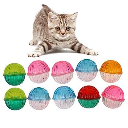Broadroot Pelotas de juegos para gatos con cascabel Jingle Bell