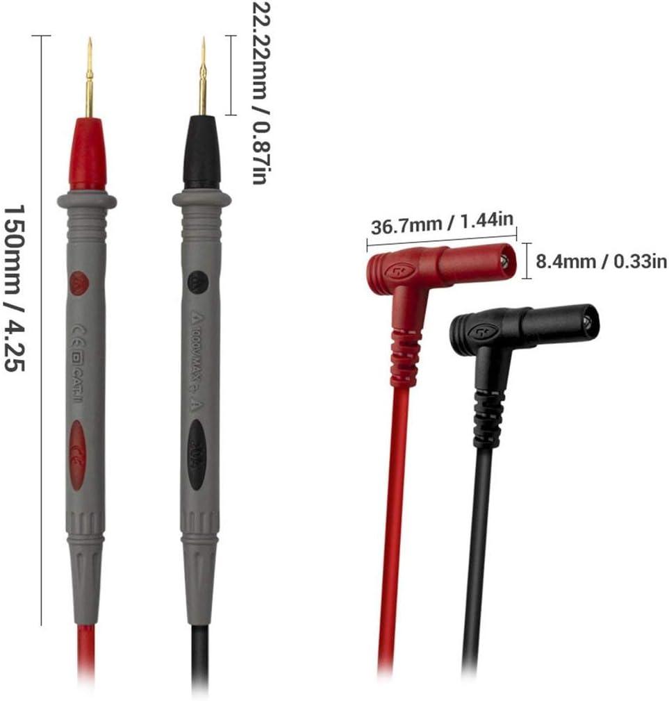 PT1006 1000V 20A Pointe de sonde de test multim/ètre /à aiguille pour multim/ètre num/érique pour ligne de stylo multim/ètre UNI-T//Victor rouge et gris FRjasnyfall
