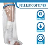 Wilsco Adult Waterproof Extra Long 42'' Leg Cast Cover for Shower ~ Keep Bandages & Casts Dry in The Shower, Pool, Ocean ~ Fully Submersible + Reusable ~ Keep Sand Out ~ Keep New Tattoos Covered