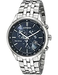 Men's Eco-Drive Chronograph Stainless Steel Watch with Date, AT2141-52L