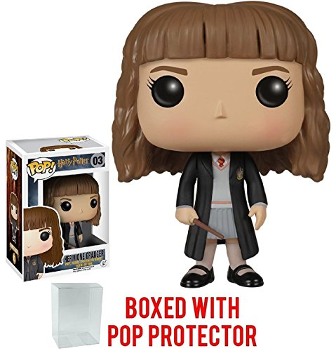 Funko Pop! Movies: Harry Potter - Hermione Granger #03 Vinyl Figure (Bundled with Pop BOX PROTECTOR CASE) Ron Weasley Yule Ball
