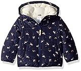 Carter's Baby Girls Fleece Lined Puffer Jacket Coat, Unicorn Navy, 18M