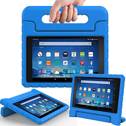 AVAWO Shock Proof Case for Fire HD 8 2017/2018 Tablet with Alexa- Kids Shockproof Convertible Handle Light Weight Protective Stand Case for Fire HD 8-inch (7th/8th Generation, 2017/2018 Release), - Kids Tablet Case Inch 8