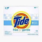 Tide Free & Gentle HE Turbo Powder Laundry Detergent, 68 Loads, 95 Oz