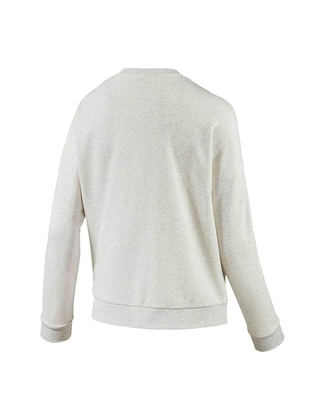 Puma Sweatshirt – Classic Logo Beige weiß Größe  M (Medium)