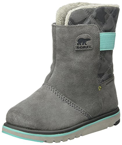 Sorel Girls' Youth Rylee Camo Mid Calf Boot, Quarry/Dolphin,