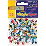 Creativity Street Wiggle Eyes Painted 100-Piece Assorted Sizes