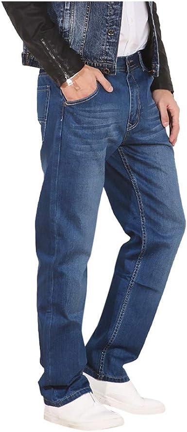 Amazon Com Jeans Sueltos De Corte Recto Para Hombre Pantalones Largos De Mezclilla Para Hombre Con Corte Atletico Relajado Y Cintura Flexible Sports Outdoors