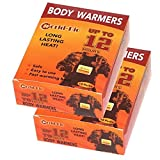 WORLD-BIO Body Warmers with Adhesive Backing Gives 12 Hours Warm - 20 Packs