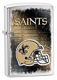 Zippo NFL Saints Lighter, Silver, 5 1/2 x 3 1/2cm