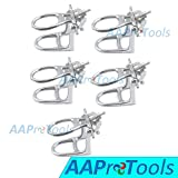 AAPROTOOLS 5PCS Dental LAB GALVANIZING Articulator Chrome Plated Full HIGH Arch Denture Adjustable A+ Quality