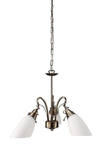 Massive 37720/06/10 Egmo - Lámpara de techo de 3 focos (60 W y 230 V), color bronce
