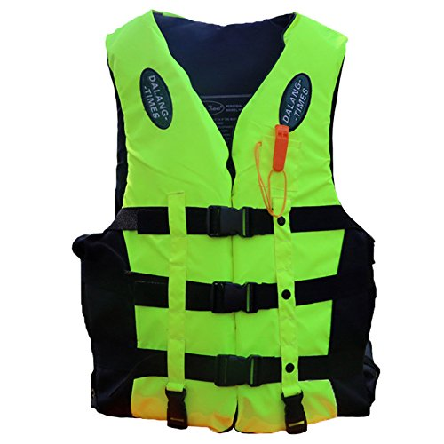 (Karc Life Jacket Thickened Foam Life Vest Teens Snorkel Vest Boating Vest Swim Jacket Buoyancy Clothing for Adult & Children (Green, S(Fits weight: 55lb-75lb)))