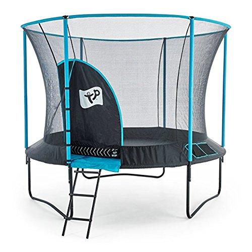 10ft Trampoline - New Genius Round - Kids Trampoline - Blue - TP Toys by Mookie Toys