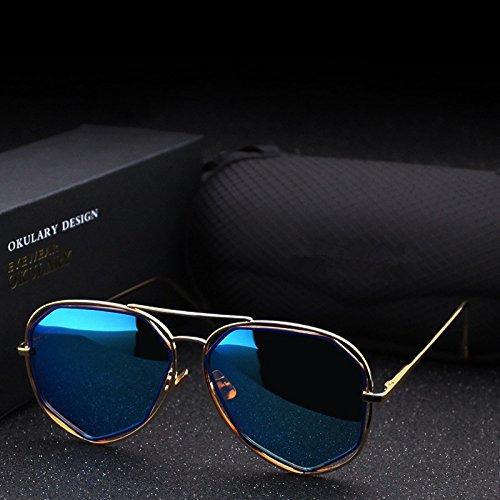 Yao piloto vintage sol sol para UV400 Brand irregulares de adultos de para Gafas 2 dama Fashion gafas polarizado Designer BrxwfqrC
