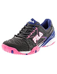 Fila Cage Delirium Women's Tennis Shoe ,Dark Shale/Pink Glow/Royal blue