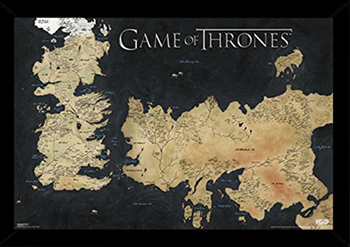Frame USA Game of Thrones Map 24508-PSA010034 Poster, 24x36,
