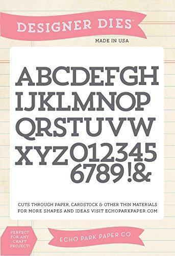 Echo Park Paper Company Block Alphabet Die Set -