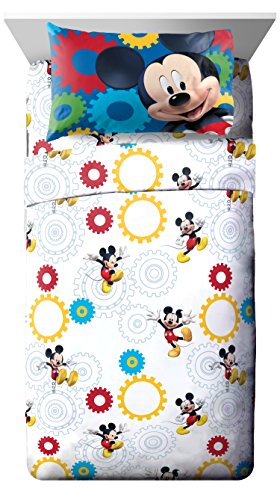 Disney Junior Mickey Mouse Clubhouse Twist 3 Piece Twin Sheet Set, 3 (Mickey Set Bedroom)