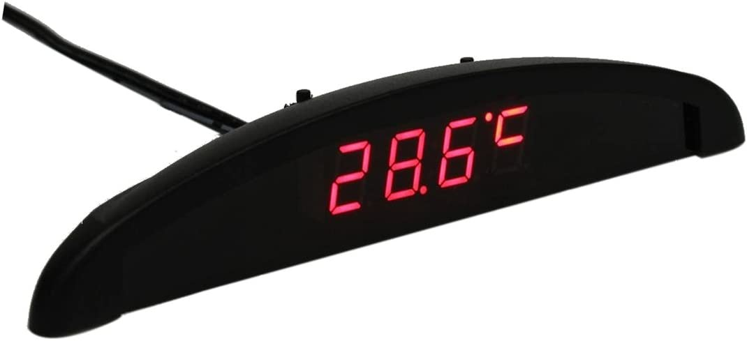 Vaorwne 3In1 Auto Car 12V Digital LED Voltmeter Spannung Temperatur Uhr Thermometer Kfz Rot