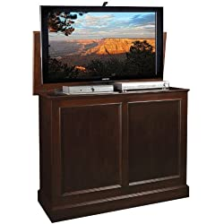 TV Lift Cabinet for 32-46 inch Flat Screens (Brown) AT006196-BRN