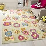 Cheap Safavieh Kids Collection SFK316A Handmade Light Green and Multi Cotton Area Rug (5′ x 8′)