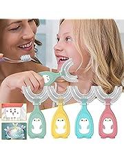 4Pcs U Shaped Toothbrush - 360 Kids U-Shaped Toothbrush, Kids U Shaped Toothbrush, Cepillo De Dientes para NiñOs, Mouth Guard Type Toothbrush, Manual Toothbrush Oral Cleaning Tools