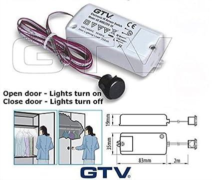 Sensor infrarrojo de iluminación para mueble de cocina (encendido/apagado), se enciende