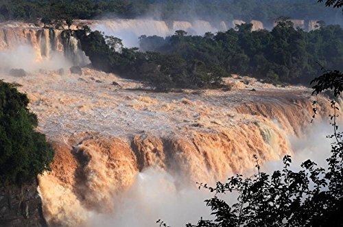 Park Iguacu National - Wallmonkeys WM360788 Flood of The Century at Iguaçu National Park Peel and Stick Wall Decals (30 in W x 20 in H), Medium-Large