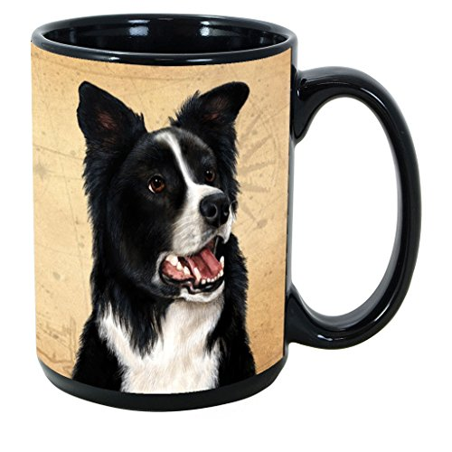 - Imprints Plus Dog Breeds (A-D) Border Collie 15-oz Coffee Mug Bundle with Non-Negotiable K-Nine Cash (border collie 028)