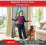 Magnetic Screen Door with Heavy Duty Mesh Curtain and Full Frame Velcro Fits Door Size up to 36
