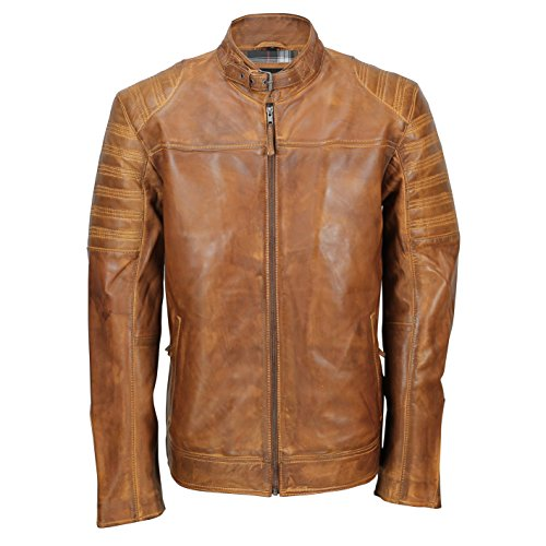 Tan Leather Jacket Mens - 5