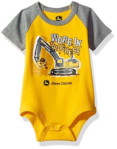 John Deere Baby Boys' Grahpic Bodyshirt, Construction Yellow, 3/6M
