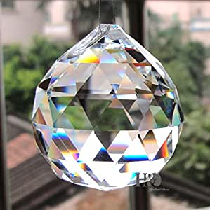 YUFENG 5PCS 40mm Feng Shui Crystal Ball Prisms Ceiling Lamp Lighting Wedding Party Decoration