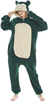 FZH Pijama Animal Adulto Azul Snorlax Onesie Kigurumi ...