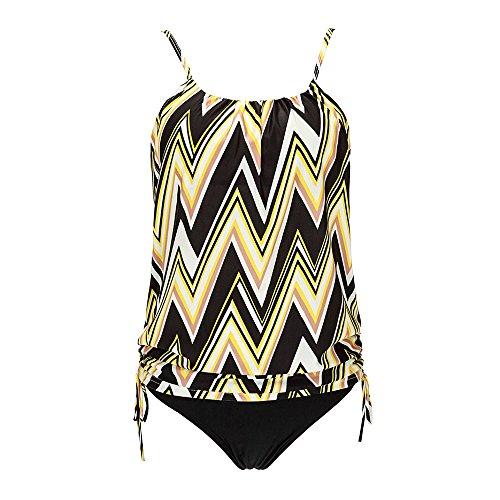 KINDOYO Bañador Tankini Mujer Bikini Top Shorts Verano Cómodo Beach 2pcs Swimwear 172
