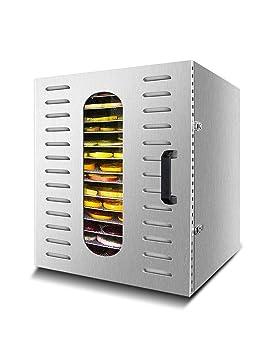 Deshidratador de Alimentos, Secadora Eléctrica de Frutas, Secado por Aire Caliente, Sincronización Programable