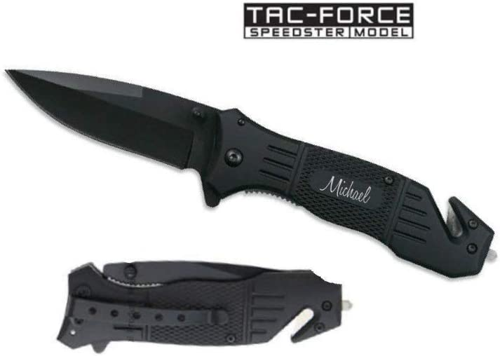 AlphaNumeric Engravers Personalized Tac-Force Knife Free Engraving TF-434
