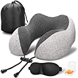 Best Travel Pillows - MLVOC Travel Pillow 100% Pure Memory Foam Neck Review