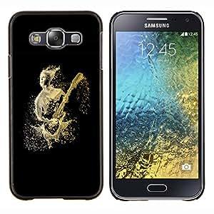 EJOOY---Cubierta de la caja de protección para la piel dura ** Samsung Galaxy E5 E500 ** --Abstract Guitar Player