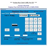 SMB15 1PC TIME CLOCK SOFTWARE | Product Key Code Card for Download