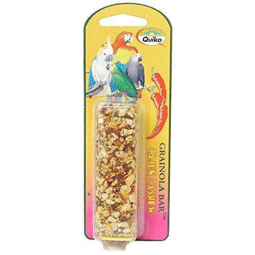 Sun Seed Company Bss85111 Large Hookbills Grainola Bird Honey Sticks Treat Bar, 2.5-Ounce, Cajun Cashew