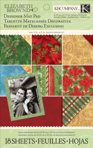 K and Company Elizabeth Brownd Visions of Christmas Mat Pad