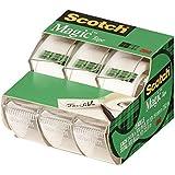 3M Scotch Magic Tape, 3/4 x 300-inches-Transparent-3 ct (3105) 2-Pack
