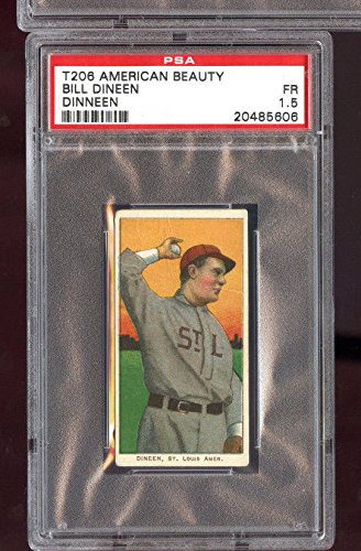 1910 T206 Baseball Card American Beauty Bill Dineen, used for sale  Delivered anywhere in USA