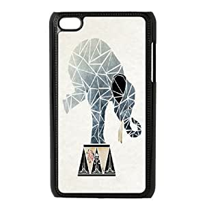 Cartoon Elephant Brand New Cover Case with Hard Shell Protection for Ipod Touch 4 Case lxa871218