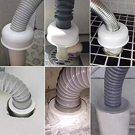 Abflussrohrdichtung ZQDL Bodenablauf Badezimmer Geruchssicheres Leckkern-Kit Silikon im Wasserrohr-Abflusskern K/üche Badezimmer-Kanalisationsdichtungsleck