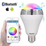 ChiChinLighting LED RGB Color Changing Built-in Music Speaker Bluetooth Smart Bulb App Controlled iPhone iPad iOS Andriod Smart Phone